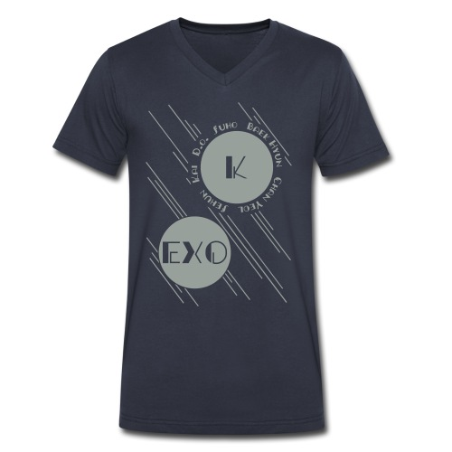 Two Moons-EXO - Men's V-Neck T-Shirt by Canvas