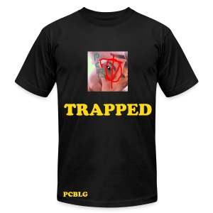 Trapped T-shirt Black - Men's T-Shirt by American Apparel