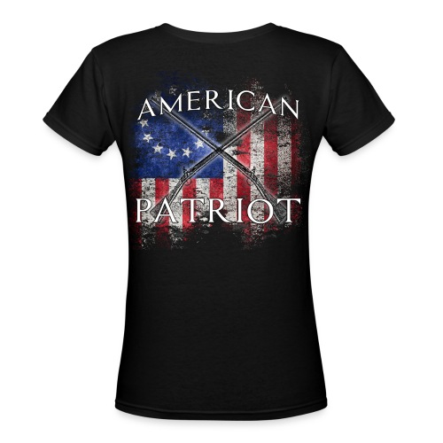 American Patriot Muskets - Women's V-Neck T-Shirt