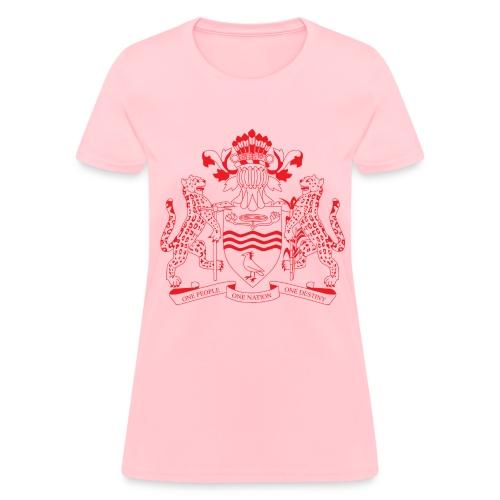 Guyana Coat of Arms- Red - Women's T-Shirt