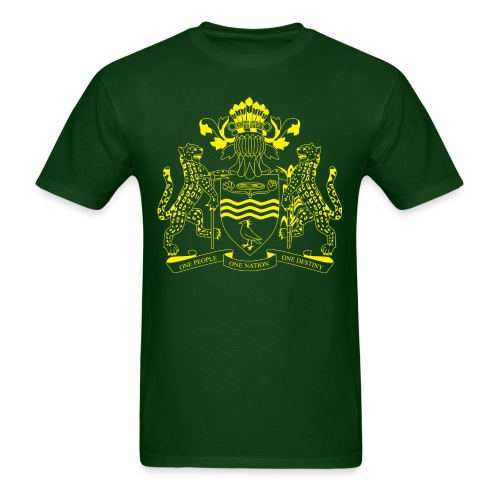 Guyana Coat of Arms- Yellow - Men's T-Shirt