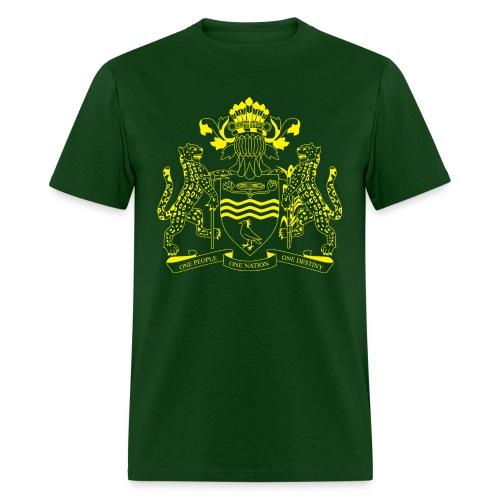 Guyana Coat of Arms- Yellow - Men's T-Shirt