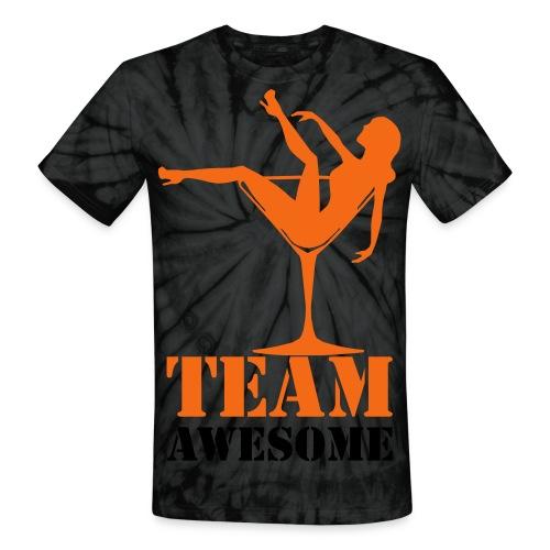Team Awesome Tie-Dye T-Shirt - Unisex Tie Dye T-Shirt