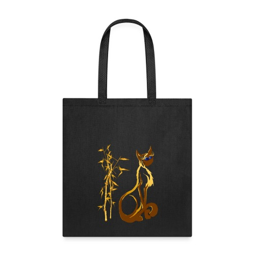 Sitting gold Siamese Kitty - Tote Bag