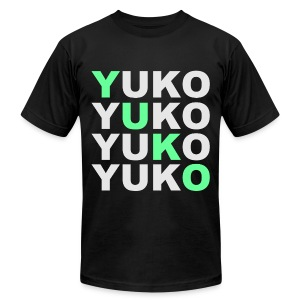 SWAG YUKO Black - Men's T-Shirt by American Apparel
