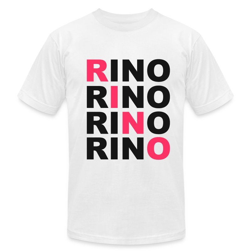 SWAG RINO White - Men's T-Shirt by American Apparel