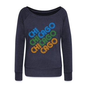 Chicago Cubed - Women's Wideneck Sweatshirt