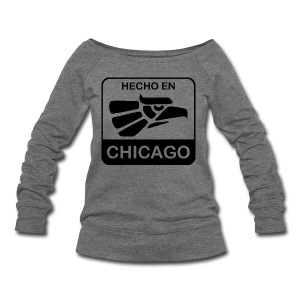 Hecho En Chicago Dark - Women's Wideneck Sweatshirt