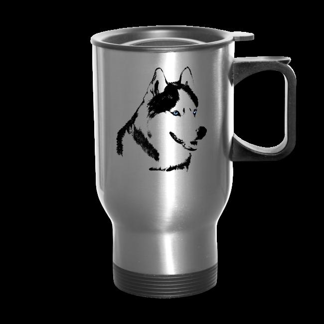 Siberian Husky Travel Mug Husky / Malamute Cups & Gifts