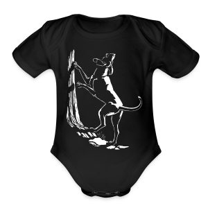 Hound Dog Baby Romper Hunting Dog Baby Creeper - Short Sleeve Baby Bodysuit