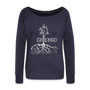 Chicago Tree - Women's Wideneck Sweatshirt