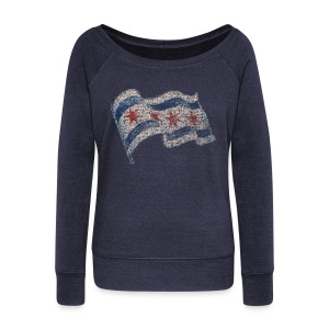 Chicago Flag - Women's Wideneck Sweatshirt