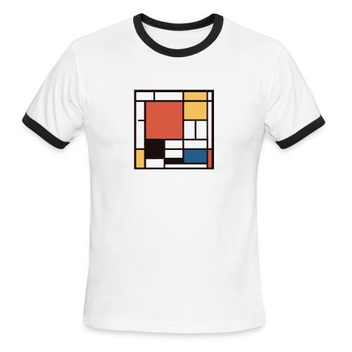 Mondrian 2 (mens tee) - Men's Ringer T-Shirt