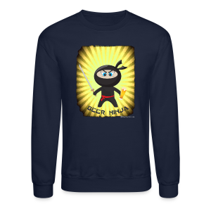 Beer Ninja Men's Crewneck Sweatshirt - Crewneck Sweatshirt