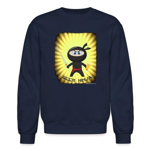 Beer Ninja Men's Crewneck Sweatshirt - Crewneck Sweatshirt
