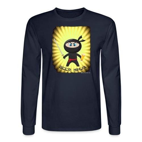 Beer Ninja Men's Long Sleeve T-Shirt - Men's Long Sleeve T-Shirt
