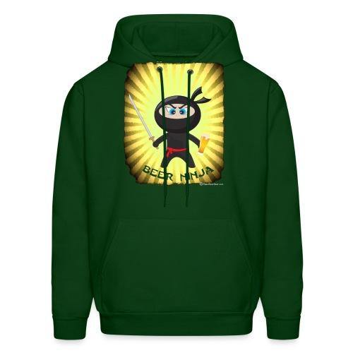 Beer Ninja Men's Hooded Sweatshirt - Men's Hoodie