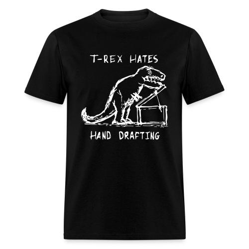 T-Rex Drafting(Black) - Men's T-Shirt