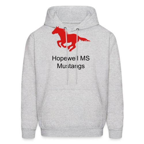 Mens Sizes Hopewell MS Mustangs Hooded Sweatshirt - Men's Hoodie