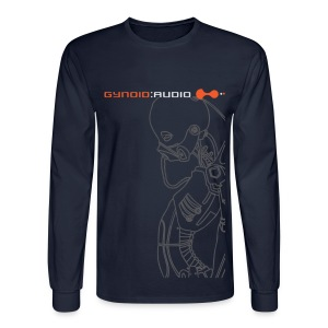 Gynoid Audio - Long Sleeve / Navy - Men's Long Sleeve T-Shirt