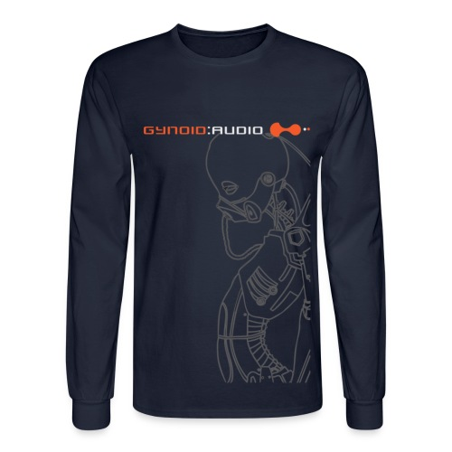Gynoid Audio - Long Sleeve / Navy - Men's Long Sleeve T-Shirt