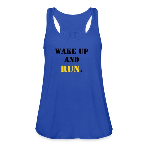 Women's Flowy Tank Top by Bella - workout,training,slogans,running,moms,fitness,fitmom,exercise,Motivation,Gym
