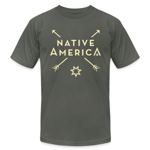 Native America - Men - Men's T-Shirt by American Apparel