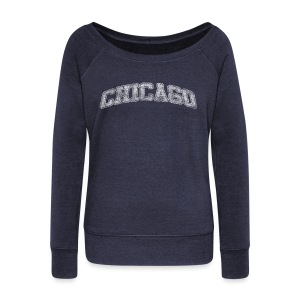 chicago distressed chi - Women's Wideneck Sweatshirt