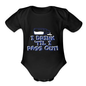 Babies Pass out - Short Sleeve Baby Bodysuit