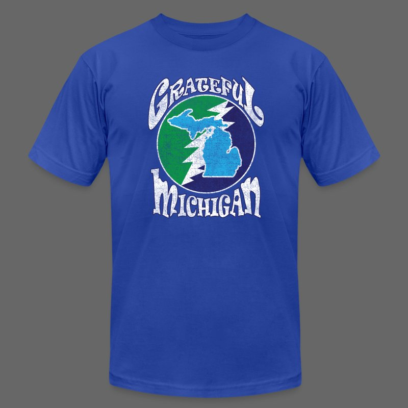 Grateful Michigan - Men's T-Shirt by American Apparel