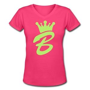 Queen B  T Shirt - Women's V-Neck T-Shirt