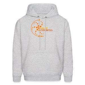 Mens Hoodie White (Orange Logo) - Men's Hoodie