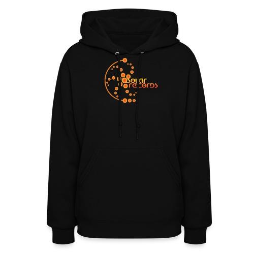 Womens Hoodie Black (Orange Logo) - Women's Hoodie