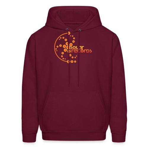 Mens Hoodie Burgundy (Orange Logo)  - Men's Hoodie