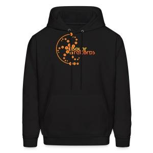Mens Hoodie Black (Orange Logo) - Men's Hoodie