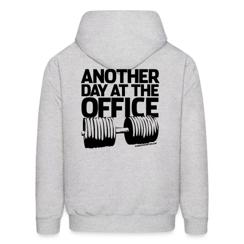 Another day at the office | Mens hoodie (back print) - Men's Hoodie