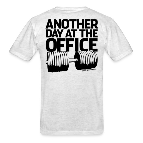 Another day at the office | Mens tee (Back print) - Men's T-Shirt