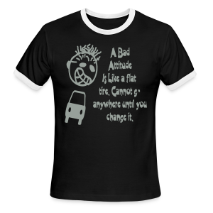 A bad attitude.. - Men's Ringer T-Shirt