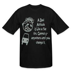A bad attitude.. - Men's Tall T-Shirt