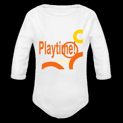 Playtime - Organic Long Sleeve Baby Bodysuit