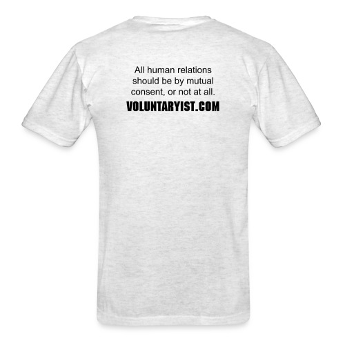 VOLUNTARYIST 2-Sided T-Shirt - Men's T-Shirt