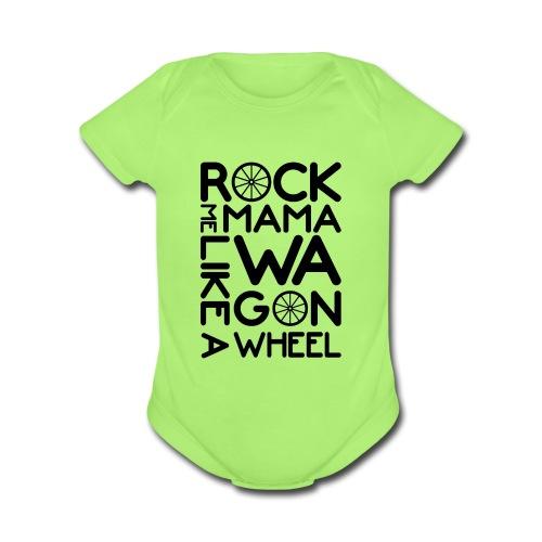 Rock Me Mama - Organic Short Sleeve Baby Bodysuit
