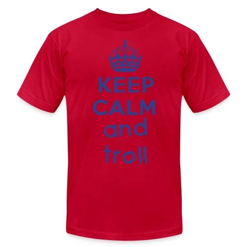 Men's T-Shirt by American Apparel KEEP CALM AND TROLL - Men's  Jersey T-Shirt