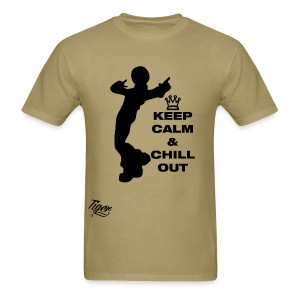 Tiger Keep Calm & Chill Out - Men's T-Shirt