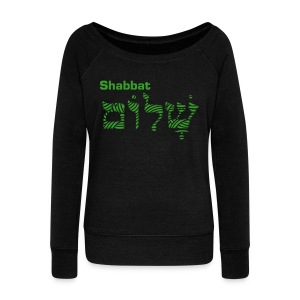 Women's Wideneck Sweatshirt - Shabbat Shalom