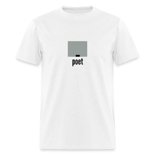 career pixels: poet - Men's T-Shirt