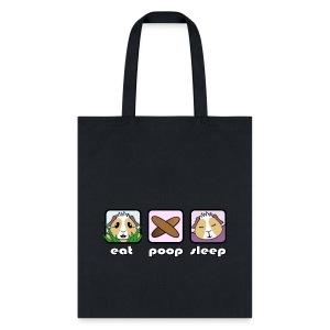 'Eat Poop Sleep' Guinea Pig Tote Shopping Bag - Tote Bag