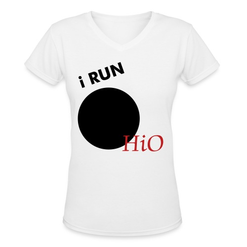 WOMEN'S RUN OHIO BABYDOLL TEE - Women's V-Neck T-Shirt
