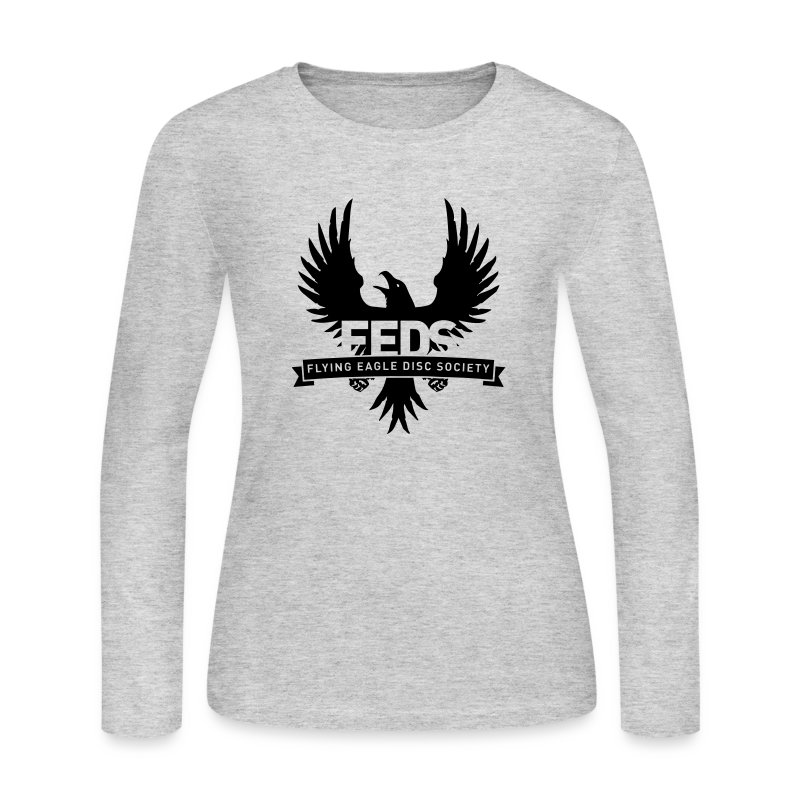 Women's Long Sleeve Shirt - Black Logo - Women's Long Sleeve Jersey T-Shirt