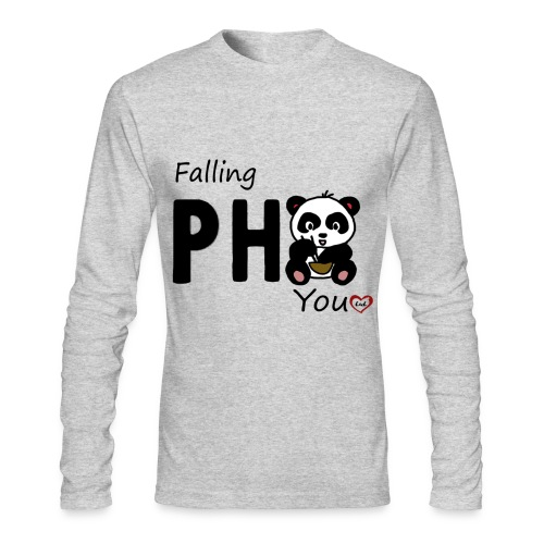 Falling Pho You - Men's Long Sleeve T-Shirt by Next Level